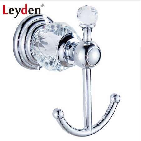 Großhandel Leyden Luxus Badezimmer Zubehör Kleidung Haken Kristall  Kleiderhaken Silber Wand Europäischen Handtuch Haken Badezimmer Hardware  Von ...