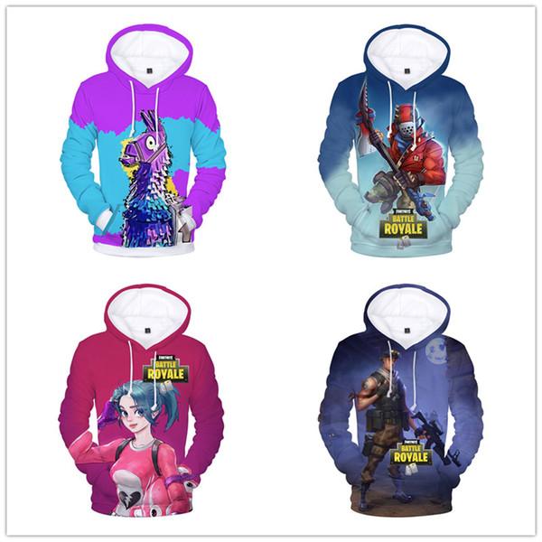 2019 Hot Sales Men Fortnite Hoodie Game Characters Printed Men Funny 3d Hoodie Autumn Winter Warm Long Sleeve Hip Hop Hoodies Wholesales From