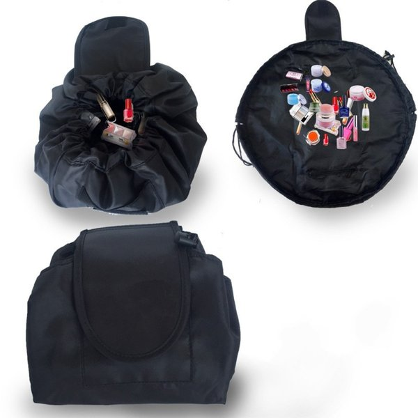 High Capacity Round Storage Bags Vely Veiy Lazy Make Up Drawstring Bag Oxford Cloth Makeup Pouch For Travel 9 5js BB