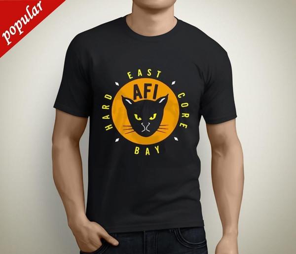 Cotton Shirts 2018 New AFI East Bay Kitty Ro Band Short Sve Men's Bla T-Shirt Size S to 5XL Funny Crew Neck Short-Sleeve T Shirt