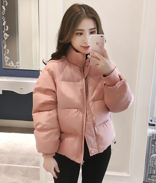 2018 hiver duvet de canard blanc doudoune rose pâle vers le bas de la veste modèles féminins section de marée manteau court de luxe épais