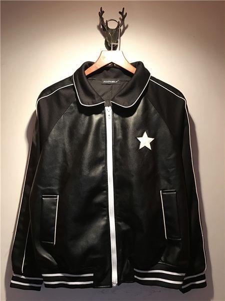 best selling 2018 fashion Brand Motorcycle Leather Jackets lapel pentagram slim Men Leather Clothing Men Leather Jackets mens designer jackets