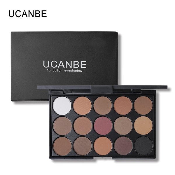 UCANBE Brand 15 Earth Color Shimmer Matte Eyeshadow Palette Kit de maquillaje Pigment Glitter Eye Shadow Nude Smoky Palette Cosmetics