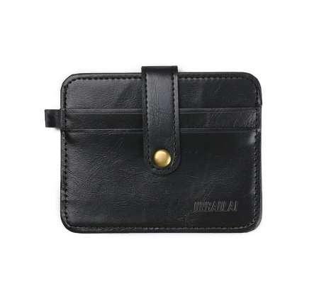 Marke Geldscheinklammern Qualitätssicherung Luxus Retro Herren Leder Clutch Brieftasche Kredit ID Card Schlanke Geldbörse hasp carteras mujer