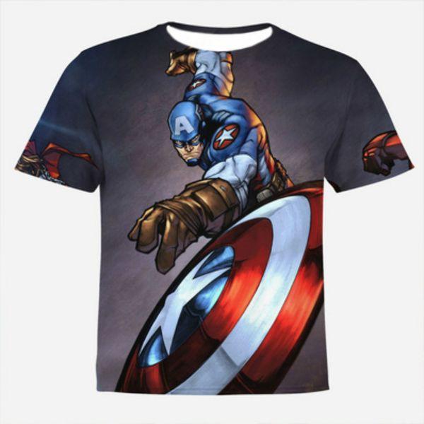 Lossky Men'S Tops Print 3D T Shirts No Hooded Cotton 3D T Shirt Men Short Sleeve O-Neck T-Shirt Men Casual Shirt For