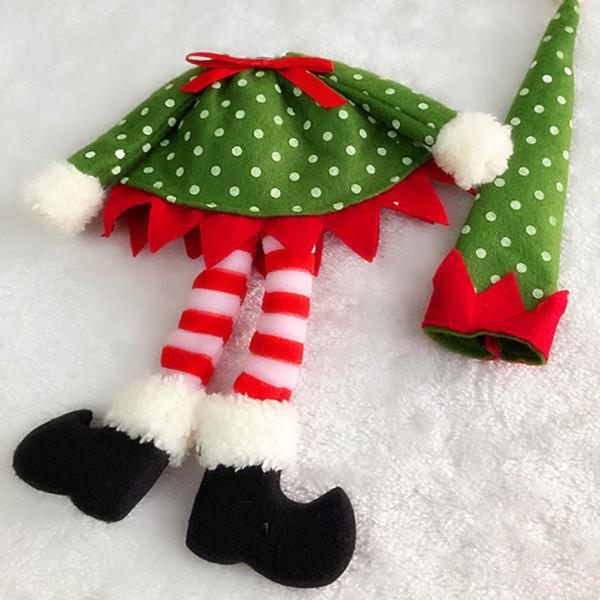 Neueste Weihnachtsdekoration Weinflasche Abdeckung Taschen Dekoration Haus Neue Polka Dot 5 * 24 cm C7731
