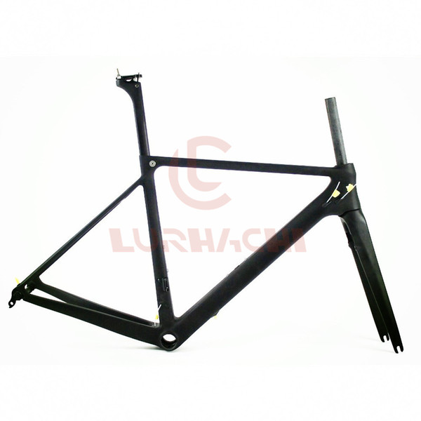 LURHACHI HQR06 T800 Carbon Fiber Road Bicycle Frame+Fork+Seat Post+Clamp+Headset+BB30 or BB68 Adapter Size 46/49/52/54cm