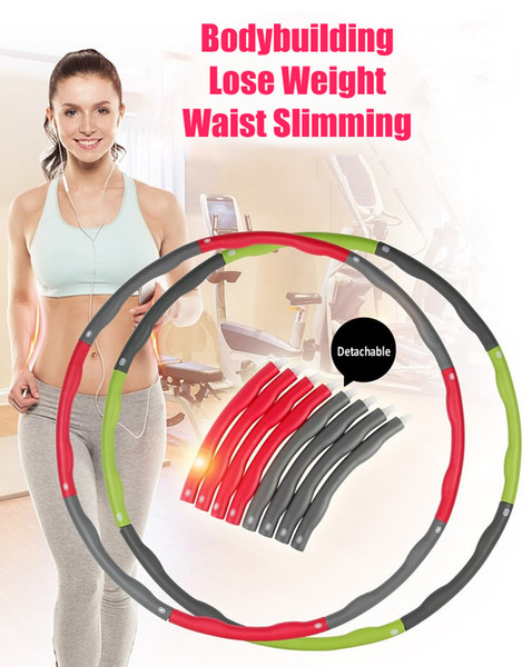 Hula Hoop Removable Weight Loss Hard Tube Equipment Waist Slimming Fitness Hula Hoops Three Colors