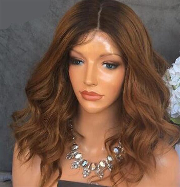 Body Wave Full Lace Human Hair Wigs Ombre