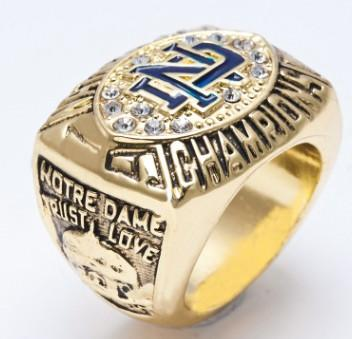 Newest Men fashion jewelry 1988 University of Notre Dame championship ring alloy sports fans collection souvenirs Christmas boyfriend gift
