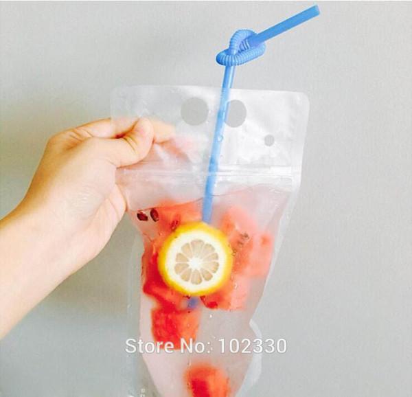 wholesale 1000pcs 450ml Transparent Self-sealed Plastic Beverage Bag DIY Drinkware Drinking Bag Fruit Juice Food Storage Bag