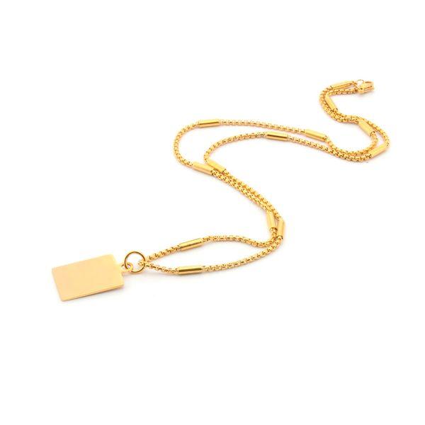 Personalizzato inciso collana donne classiche mens oro e argento collana pendente in acciaio inox gioielli da sposa regali
