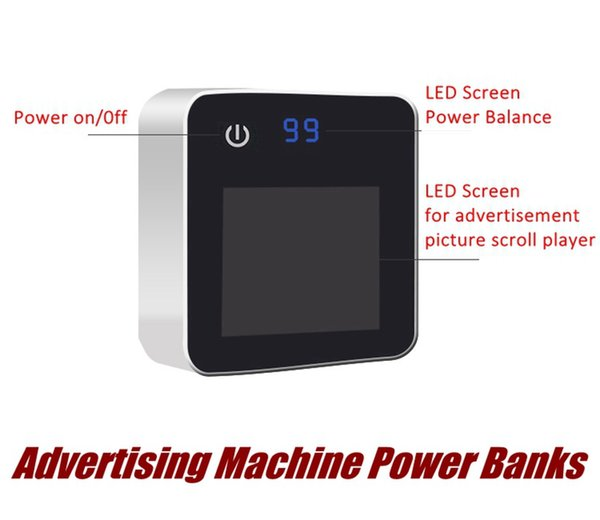 2018 newest Creative advertisement machine picture scroll player LED screen Power Banks 6600mAh backup Charging Battery
