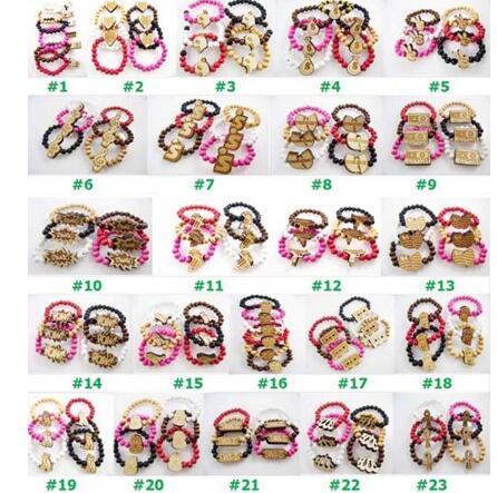 Free shipping 23 style Jewelry Mix Styles Wooden Elasticity Hip Hop Bracelet Rosary Beads Good Wood(139PCS/LOT)