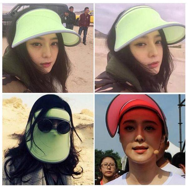360 derece havalandırmak kap çift moto şapka UV koruma Yaz kadın güneş koruma visor cap sürme koşu için 6 renk 100 adet