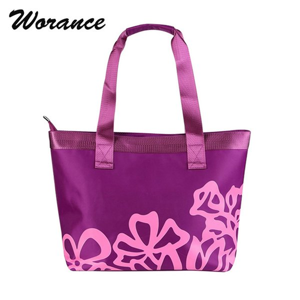 Worance 2018 New Collection Women Handbag Ladies Designer Flower Printing Shoulder Mummy Bags Casual Waterproof Oxford Lunch Bag