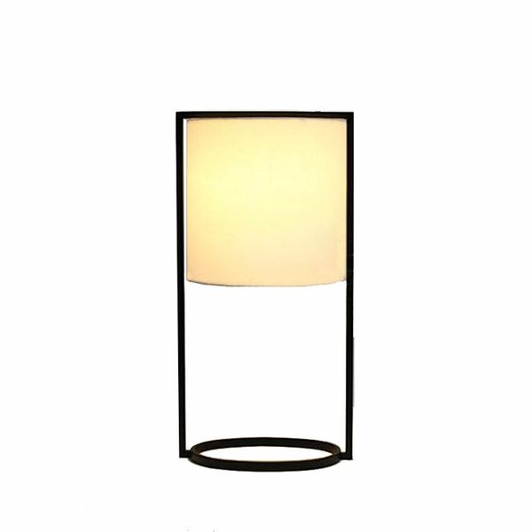 OOVOV Round Fabric Study Room Desk Lamp Modern Bedroom Desk Lamps Living Room Table Light Fixtures