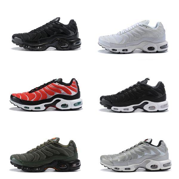 2018 New Plus Tn 20 º Aniversário Triplo preto Branco Mens Running Shoes Vlone Volt Brilho Exército Vermelho TNs Formadores Esportivos Tênis Tamanho 40-46