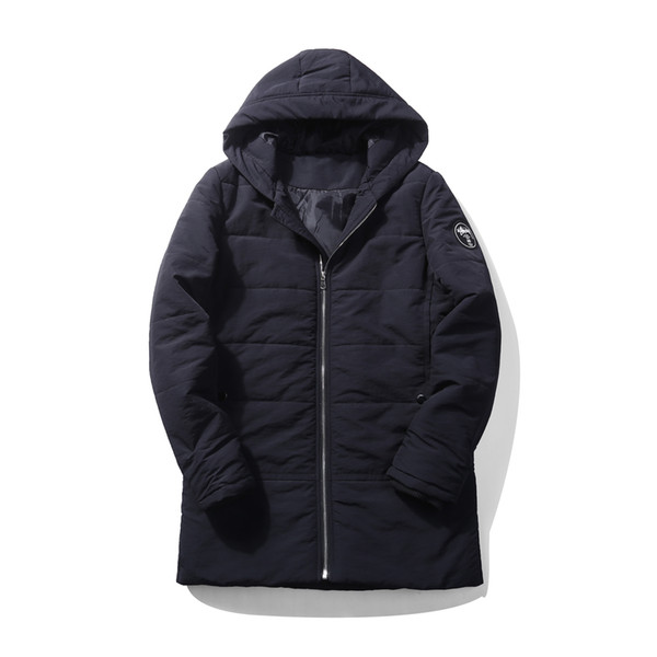 Fashion Men clothing Casual thick Winter Autumn padding Jacket menswear Padding with hoodie collar and black color