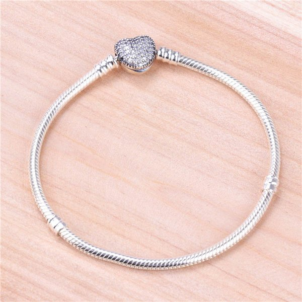 31f7208e241 Authentic 925 Sterling Silver Silver Bracelet With Clear Cubic ...