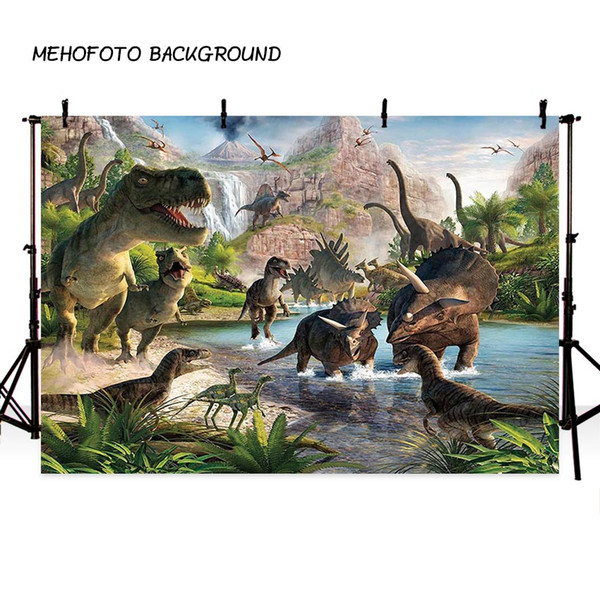 best selling MEHOFOTO Jurassic World Backdrop Photography Dinosaur Jungle Birthday Party Backdrops for Photo Background for Pictures Decor