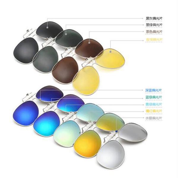 2017 Diseño moderno caliente Unisex polarizado Clip en gafas de sol que conducen gafas de conducción anti-ultravioleta de visión nocturna
