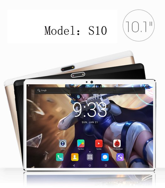 New 2.5D 10 inch android 7.0 Tablet Pc 4GB And 64GB SIM Card SLOT 1920*1200 HD LCD Dual Camera 7 8 9 10 tablet Core CPU