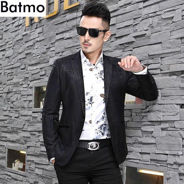 Batmo 2018 nuovo arrivo autunno nero di alta qualità casual blazer uomo, giacca casual da uomo, giacche da uomo XF1805