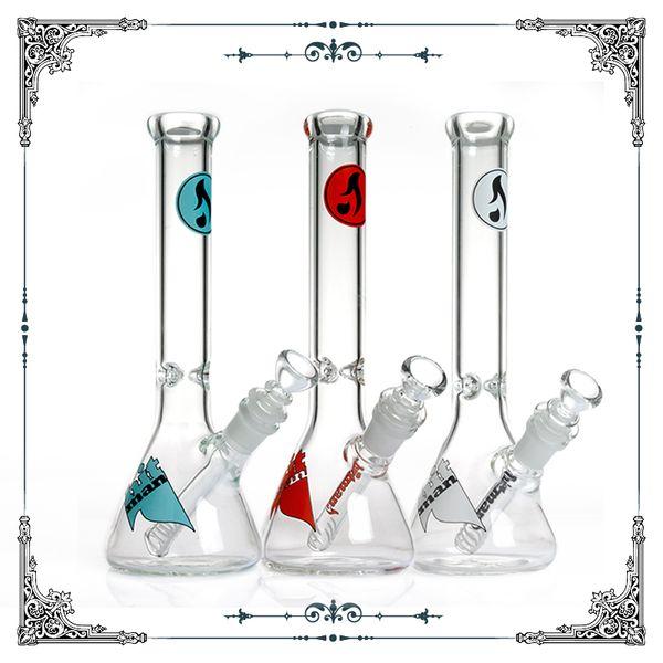 Hot sale 10 inch hitman glass beaker bong with ice catcher heady glass smoking pipes water pipes hookah shisha cheap bongs free shipping
