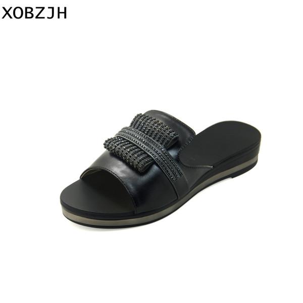 Compre Moda Diamantes Zapatos Verano Cuñas Mujer Imitación 2018 Negro Plataforma De Para Madura Sandalias Fiesta Xobzjh iuPkXOZ