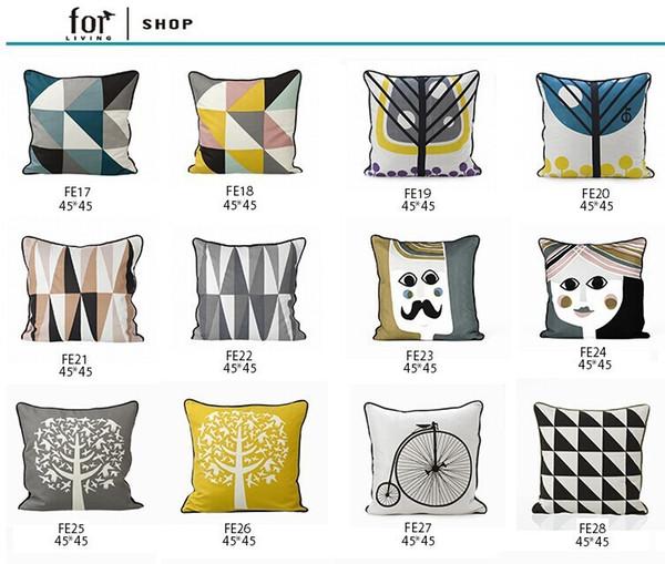 Remarkable Nordic Style Decorative Throw Pillows Case Gray Geometric Pillows Scandinavian Cushion Cover Home Decor Sofa Couch Pillowcase Throw Pillow Floor Dailytribune Chair Design For Home Dailytribuneorg