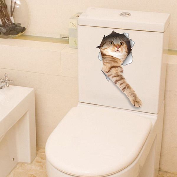 Terrific Hot Sale 3D Cats Dogs Decorative Wall Sticker Toilet Seat Stickers Vivid View Room Bathroom Animal Art Wall Poster Home Wallpaper Horse Wallpaper From Caraccident5 Cool Chair Designs And Ideas Caraccident5Info