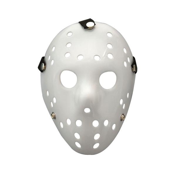 Maschera di Halloween Jason Voorhees Venerdì 13th Horror Movie Hockey maschera bianca Scary Masquerade Costume Decor Halloween puntelli FFA778