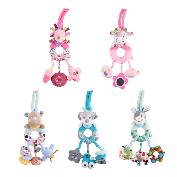 Baby Rattles Mobiles Educational Toys For Children Teether Toddlers Bed Bell Baby Playing Kids Stroller Hanging Dolls free shipping hot sale