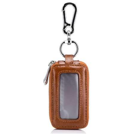 New Arrival Genuine Leather Men Car Key Holders Housekeeper Multifunctional Double Zipper Square Home Key Case Women Key Wallet