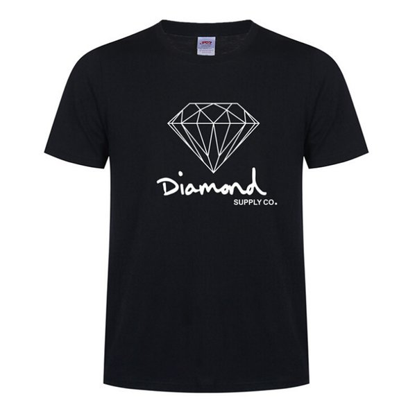 New Summer Cotton Mens T Shirts Fashion Short-sleeve Printed Diamond Supply Co Male Tops Tees Skate Hip Hop Sport Clothes