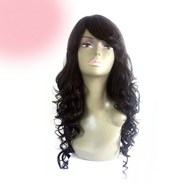 Nature Qingdao discount sexy wholesale style 100% unprocessed remy virgin human hair long natural color big curly full lace wig