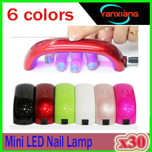 best selling 30PCS Mini USB 9W 3 LED UV Nail Dryer Curing Lamp Machine Gel Nail Polish Powerful UV Lamp Light Nail Polish Fast Dry Colors XU-MJ-1