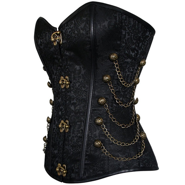Vintage Goth Plus Size 6XL Corset Steampunk Clothing Women Corpetes E Corselet Overbust Gothic Corsets and Bustiers Steel Boned