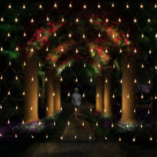 3 colors 3x2m 200 Leds 8 display modes 220V net led string light Festival Christmas new year wedding ceremony light EU Plug