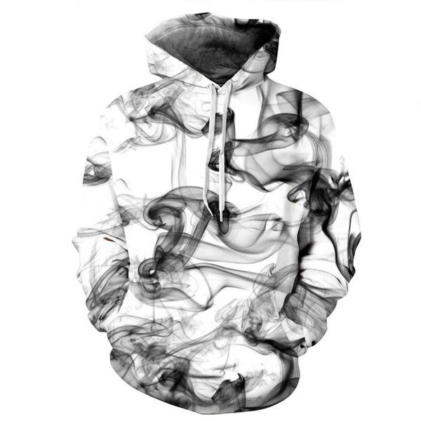 Devin Du New Fashion Uomo / Donna 3d Felpe Stampa Acquerello Linee di fumo da sogno Stile sottile Felpe con cappuccio autunno inverno