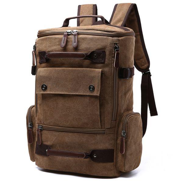 Men Laptop Backpack 15 Inch Rucksack Canvas School Bag Travel Backpacks for Teenage Male Notebook Backpack Computer Knapsack Bags