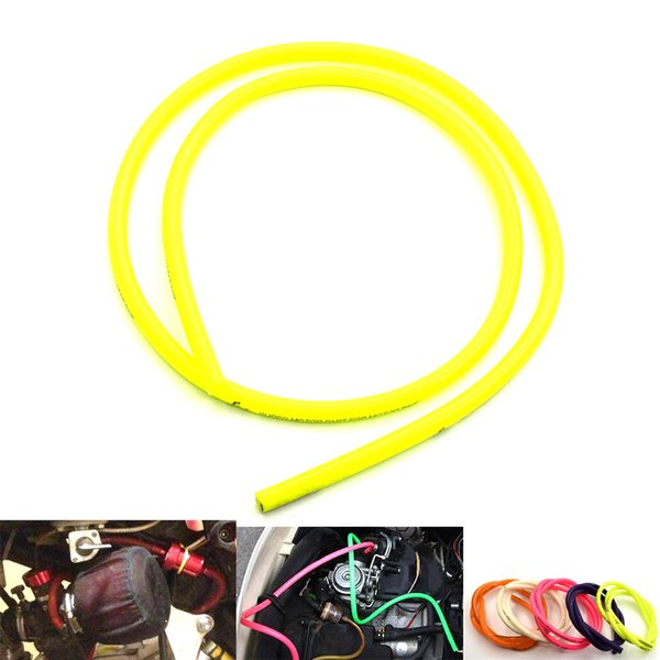 For 5M Motorcycle Rubber Fuel Universal Line Hose Gas Oil Pipe Tube 4.5mm I / D 8.15mm O / D YELLOW WHITE RED PURPLE