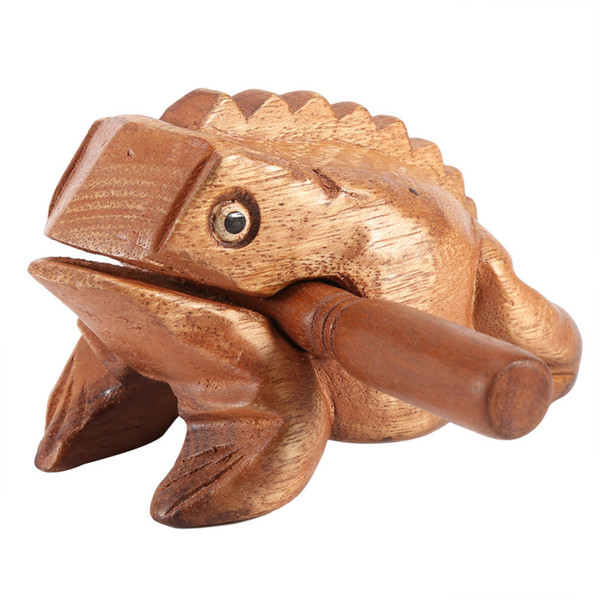 Wholesale Thailand Traditional Craft Wooden Lucky Frog Art Figurines Decorative Miniatures Home Office Decor