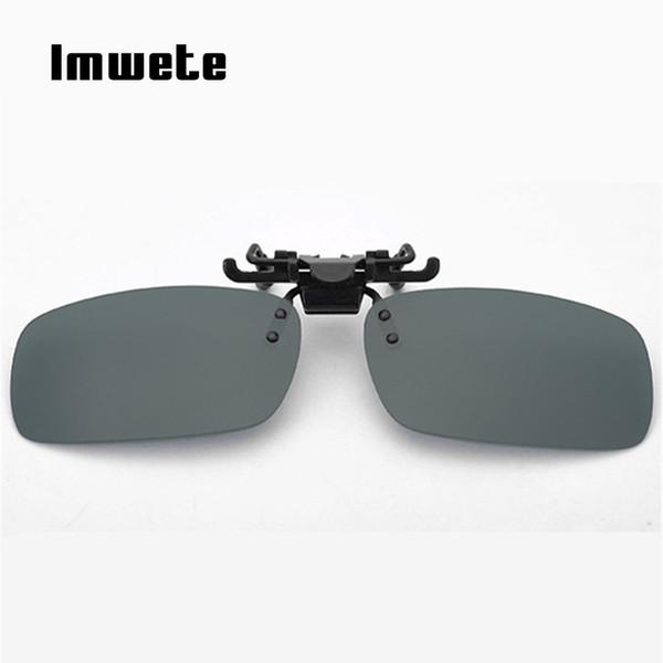 d789536d69 Imwete Women Retro Flip Up Polarized Sunglasses Men Clip On Myopia Glasses  Male Day Night Vision