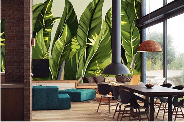 3d abstract wallpapers Southeast Asia Leaf Leaves Murals Walls photo print wallpaper 3 d wall paper papier for Living Room