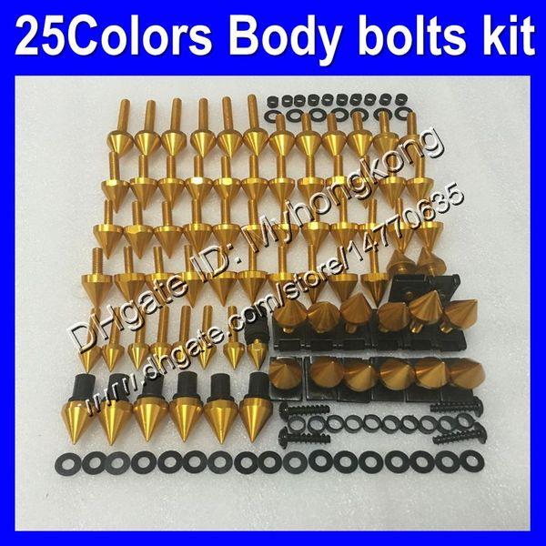 Fairing bolts full screw kit For KAWASAKI NINJA ZX6R 07 08 ZX-6R ZX 6 R 07-08 ZX 6R ZX6R 2007 2008 07 Body Nuts screws nut bolt kit 25Colors