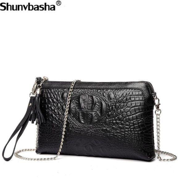 Genuine Leather Handbags 2018 New Fashion Big Chain Shoulder Bags Luxury Tassel Womens Messenger Bags Retro Cowhide Female Bag