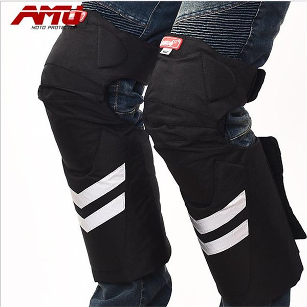 AMU motorcycle electric car knee thickening cold warm breathable sweat sweating autumn and winter drop protection device P16