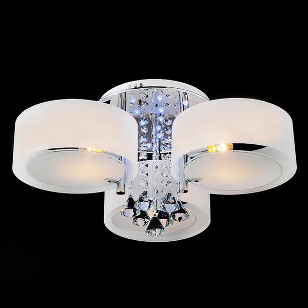 Acquista Ecolight Telecomando 3 Luce RGB Led Lampadario Di Cristallo  Soggiorno Moderno Camera Da Letto Camera Dei Bambini 8002 3RGB A $70.36 Dal  ...